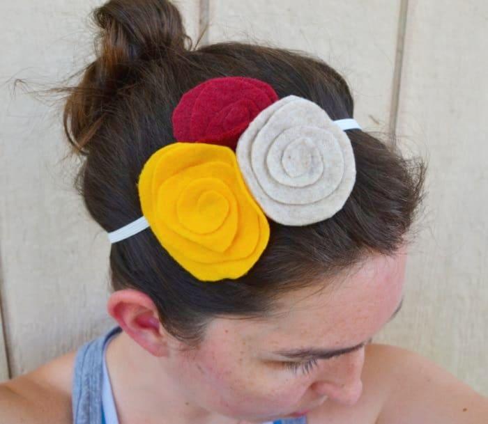 spiral flower headband
