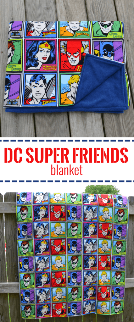 super friends blanket pin