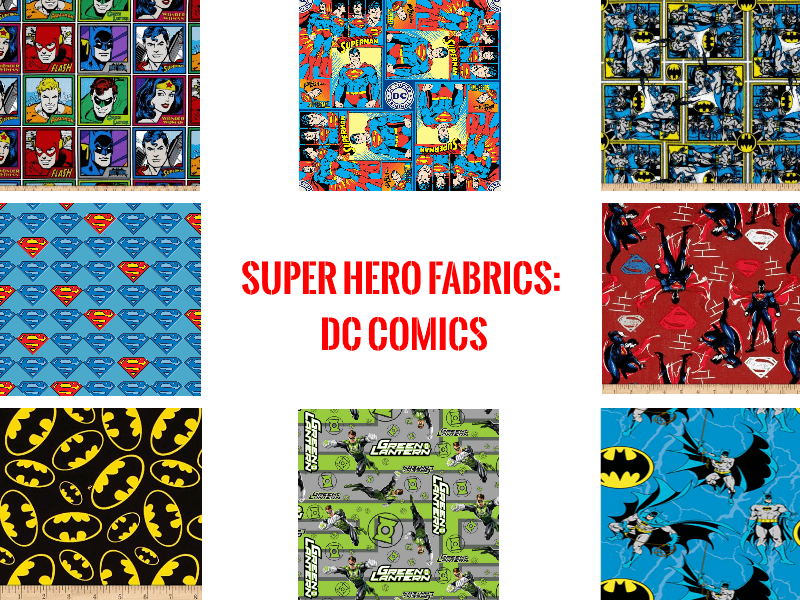 super hero fabrics dc