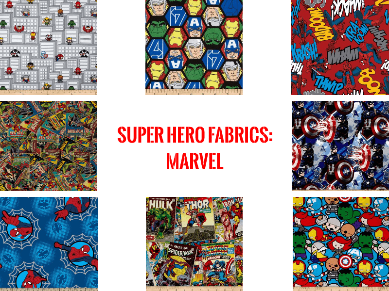 super hero fabrics marvel