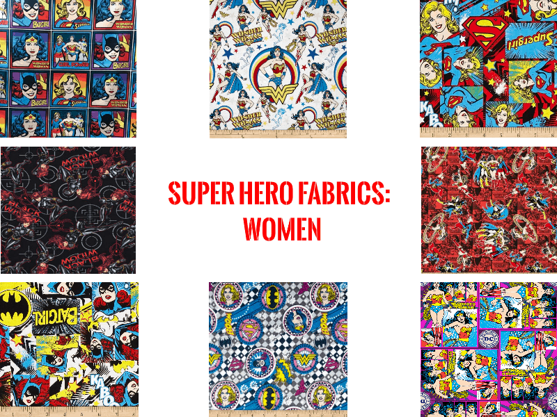 super hero fabrics women