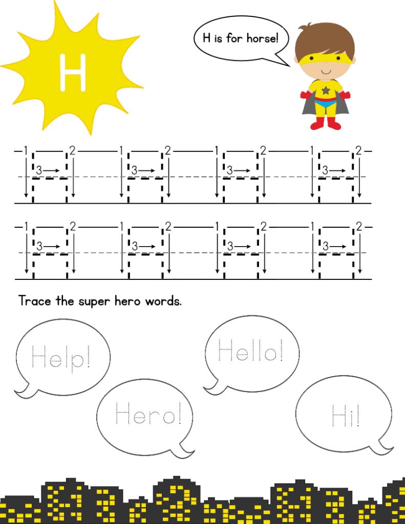 super hero page h