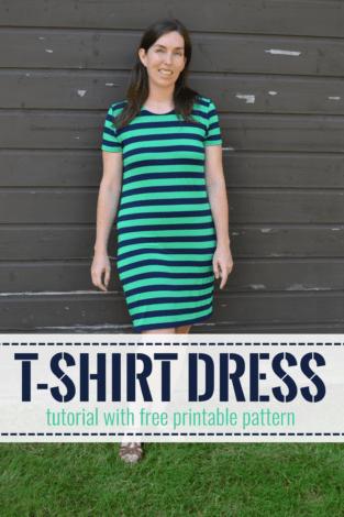 t shirt dress tutorial pin