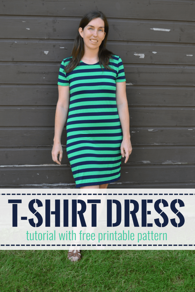 t shirt dress tutorial pin