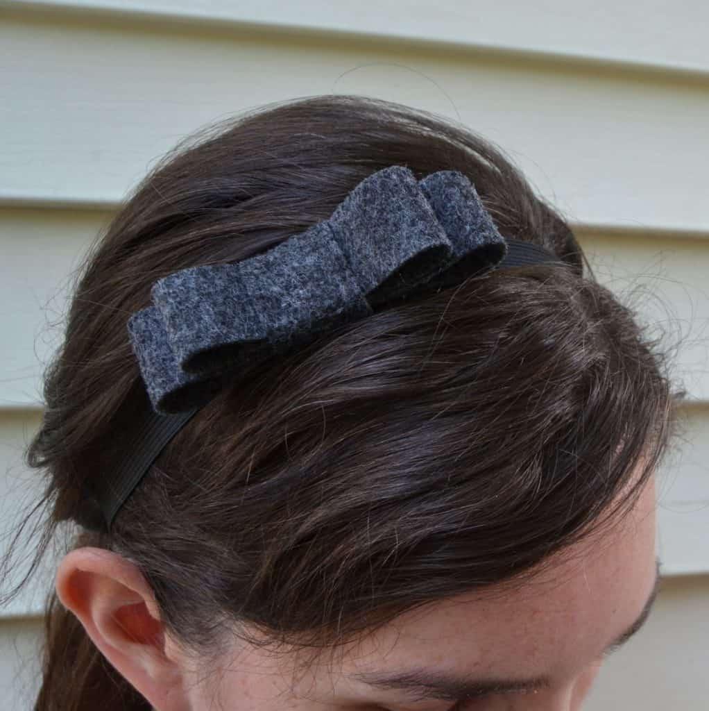 double felt bow headband