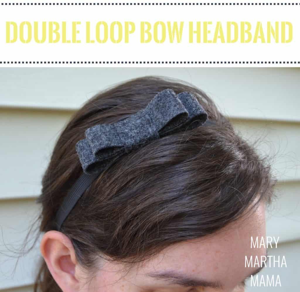 double felt bow headband 2 pin