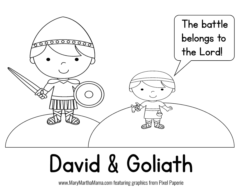 graphic about David and Goliath Printable Story named David Goliath PreK Pack [Cost-free Mini Pack] Mary Martha Mama