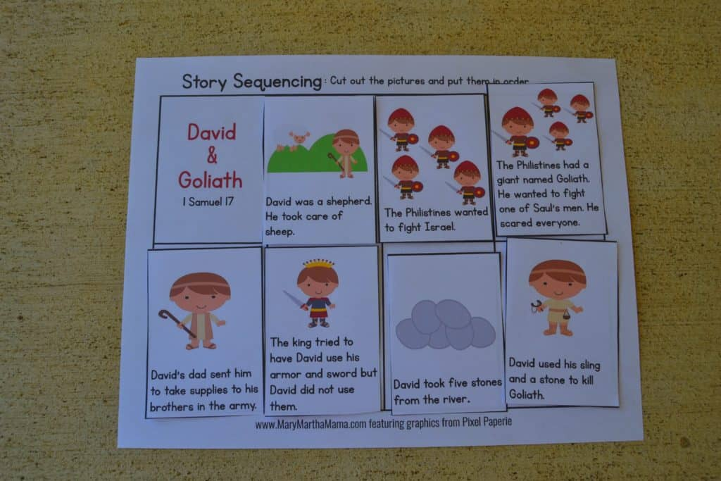 photo about David and Goliath Printable Story named David Goliath PreK Pack [Totally free Mini Pack] Mary Martha Mama