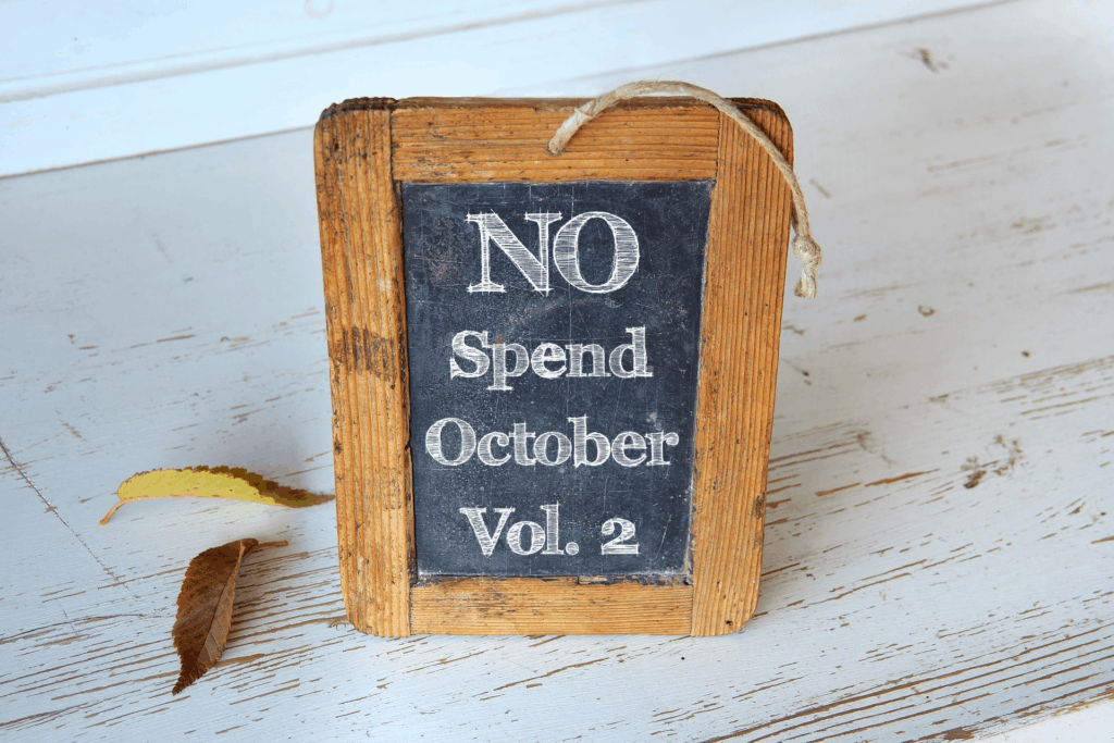 no-spend-october