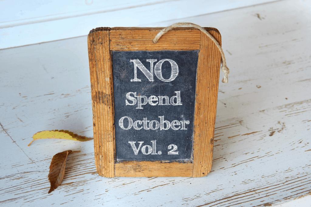 no-spend-october
