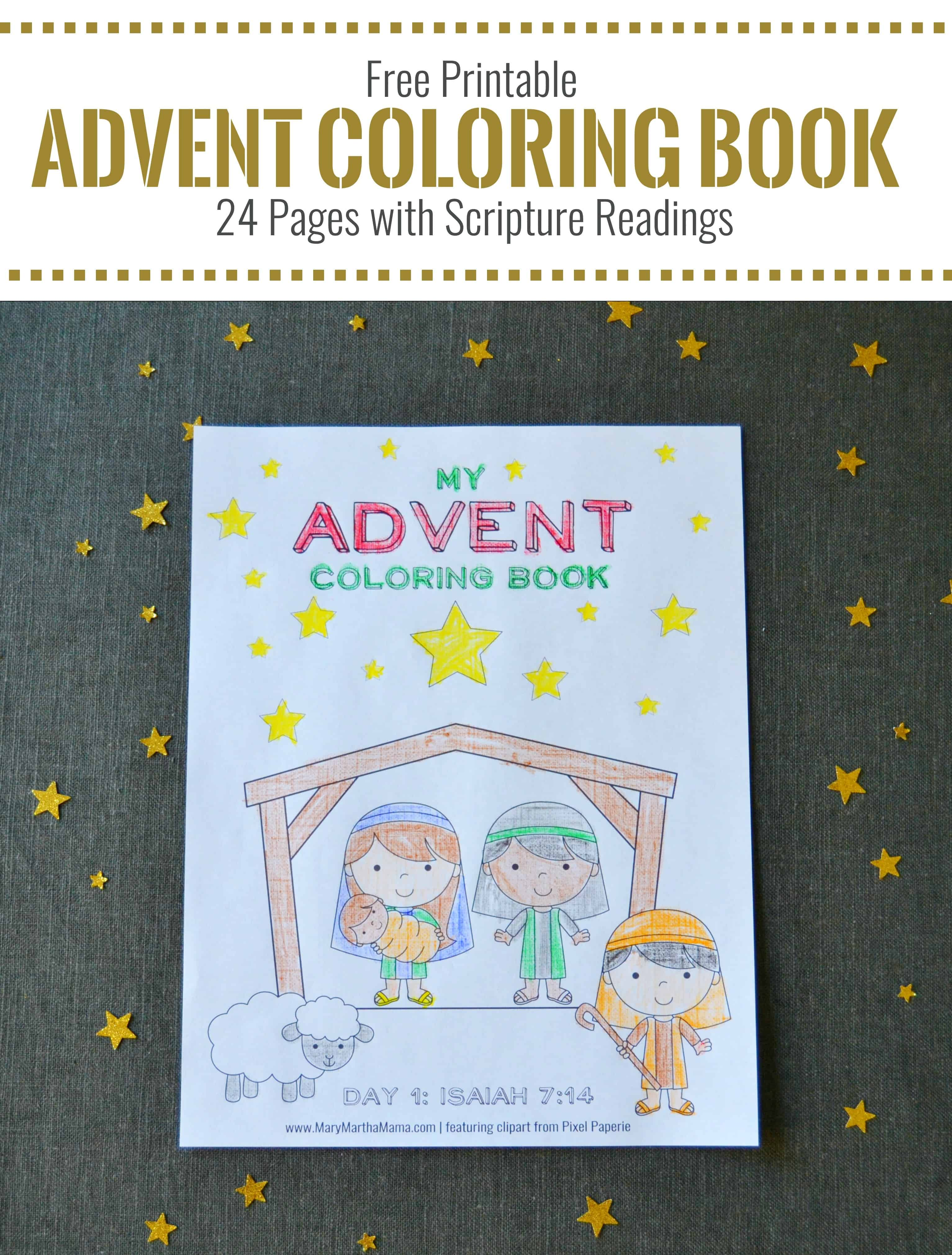 printable advent coloring book mary martha mama. Black Bedroom Furniture Sets. Home Design Ideas
