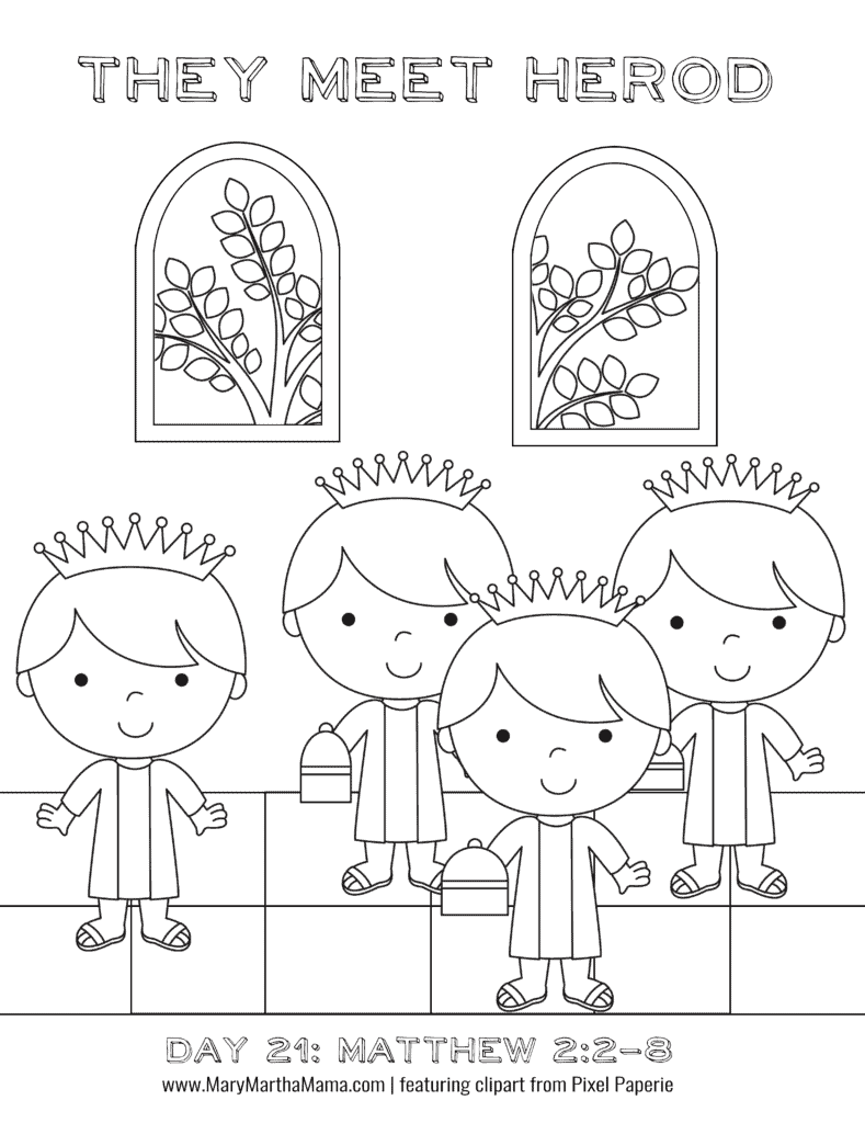 Printable advent coloring book mary martha mama for Printable advent coloring pages