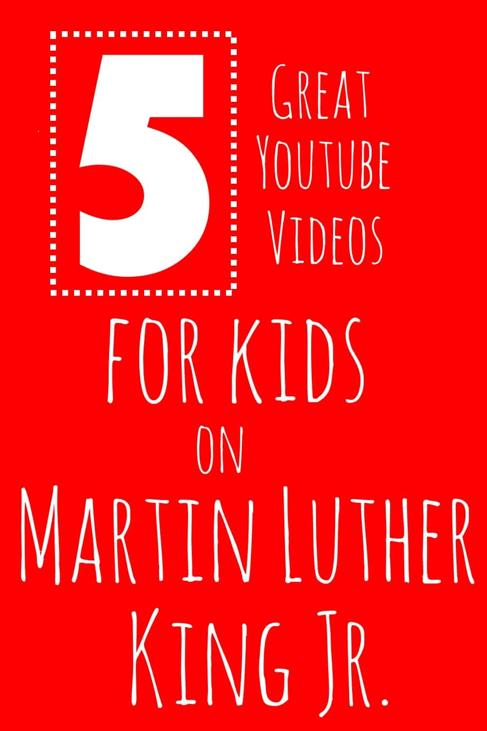 5 youtube videos on martin luther king jr