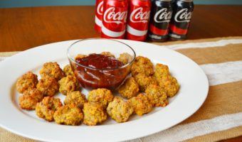 Cheesy Sausage Balls with Tangy Ketchup