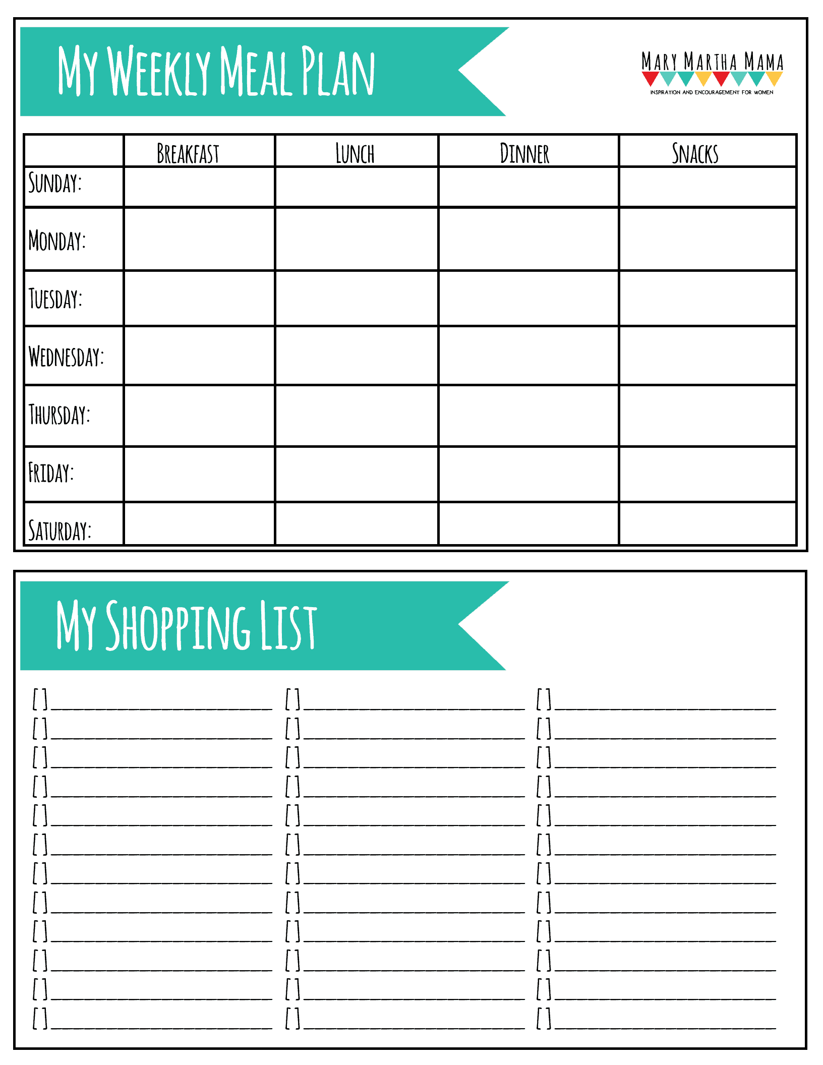 photo regarding Printable Meal Plan titled Printable Supper Application Worksheet Mary Martha Mama