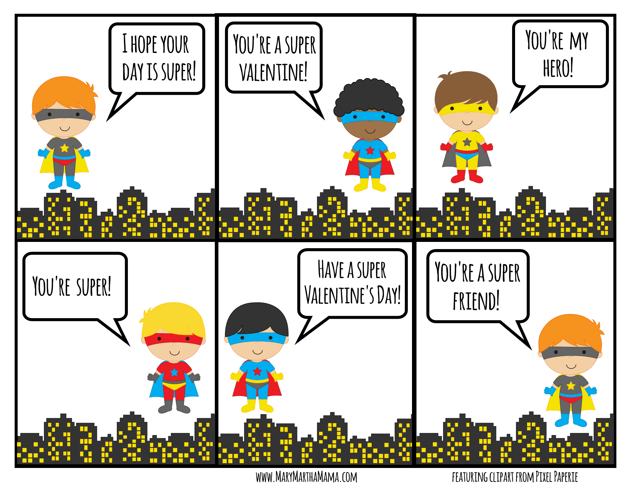 super hero valentines