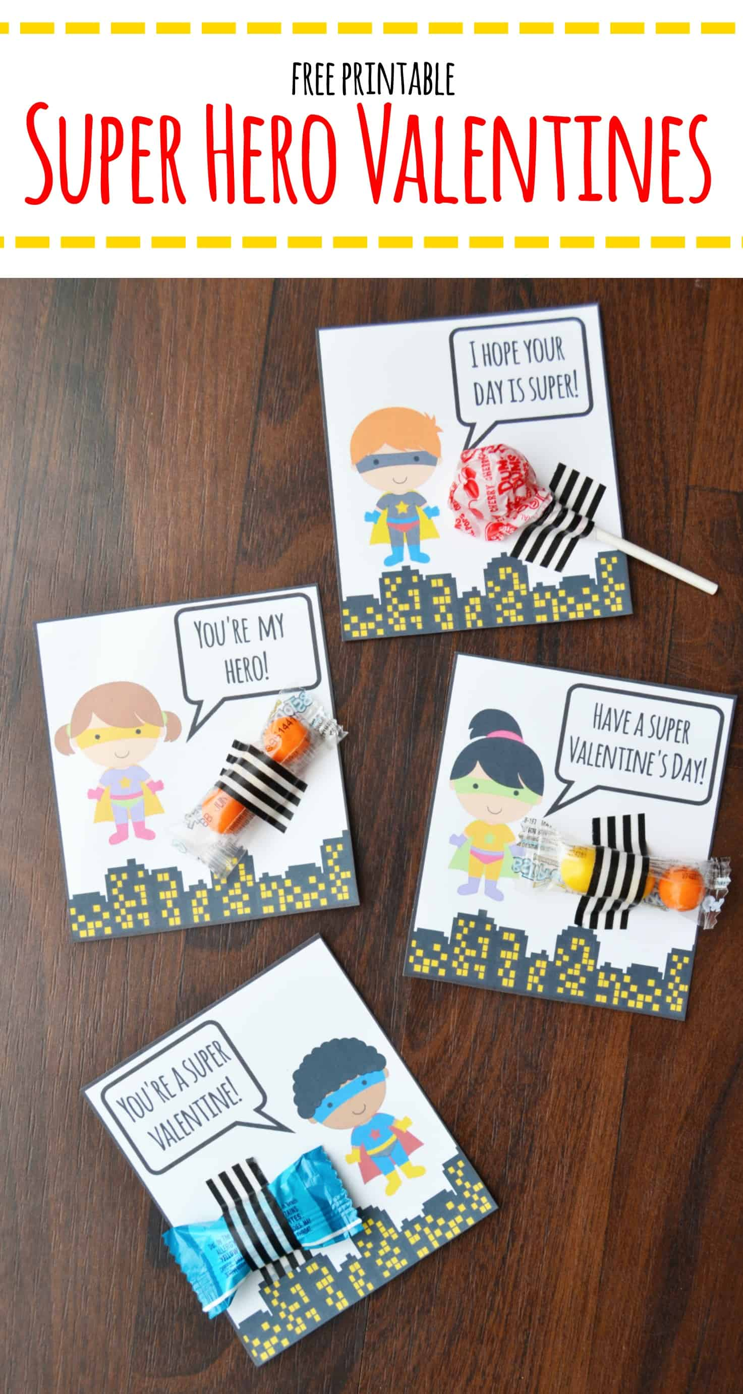 Valentine's Day is coming up! I have some fun printable super hero valentines for you all. These free printables are perfect for your little super hero.