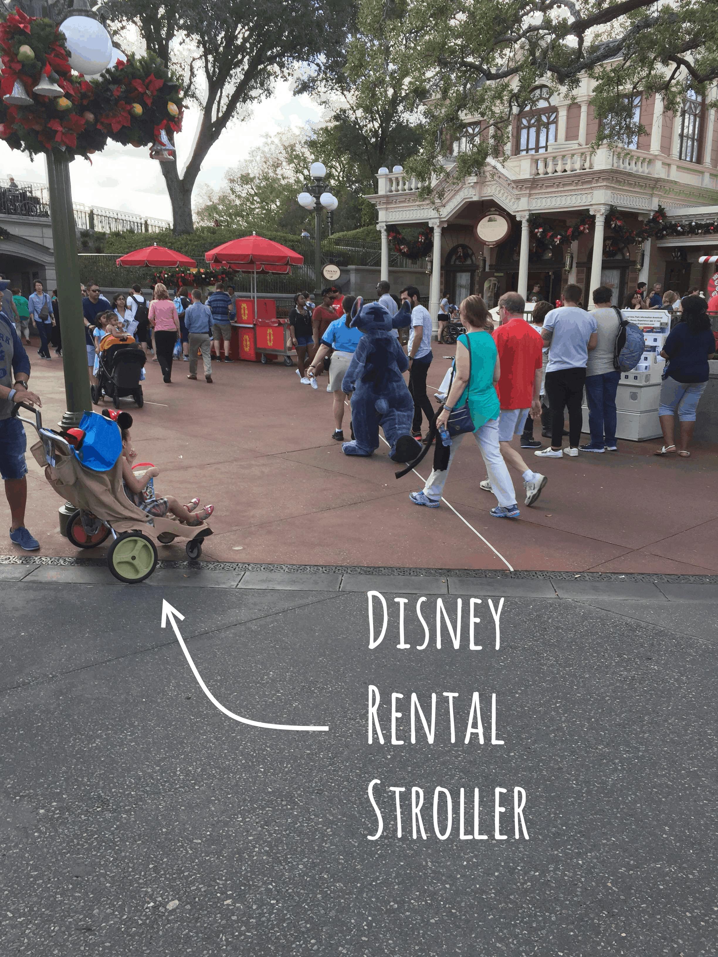 disney rental stroller in the park