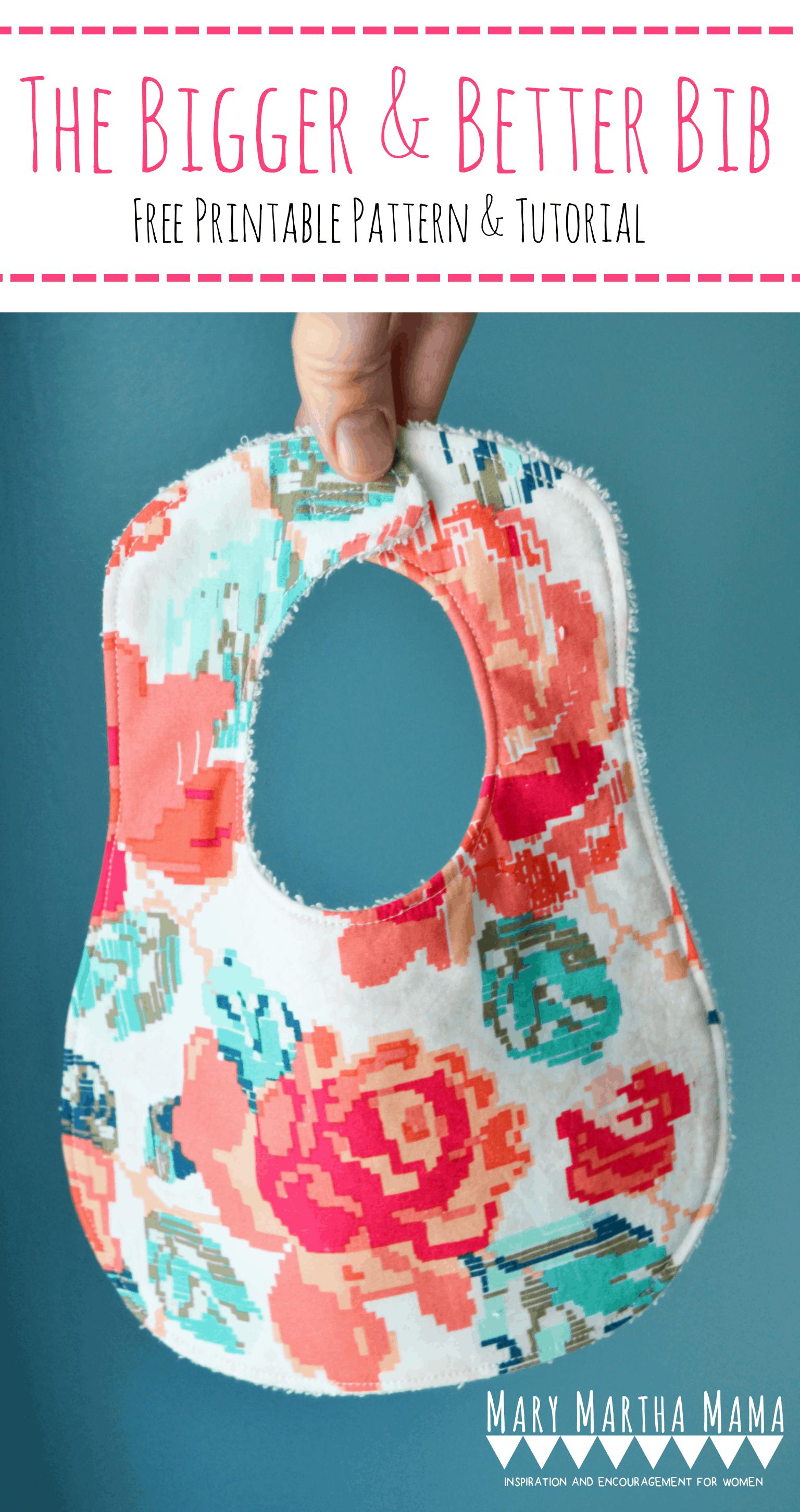 Make this beautiful baby bib using this free baby bib pattern. #bibpattern
