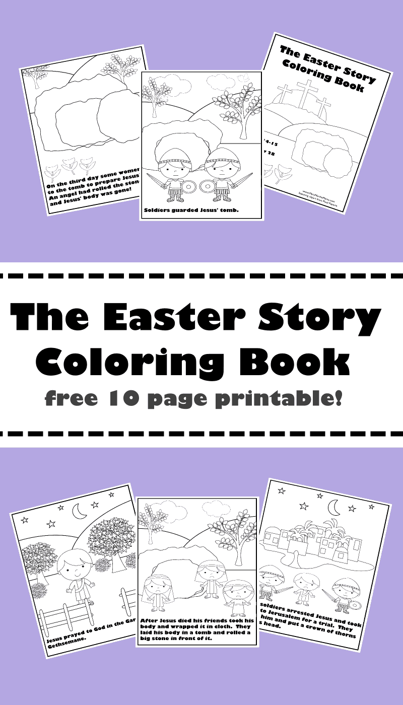 Story Coloring Book Printables Here Want More Easter Activities For Your Little Ones Check Out My Preschool Pack From Last Year