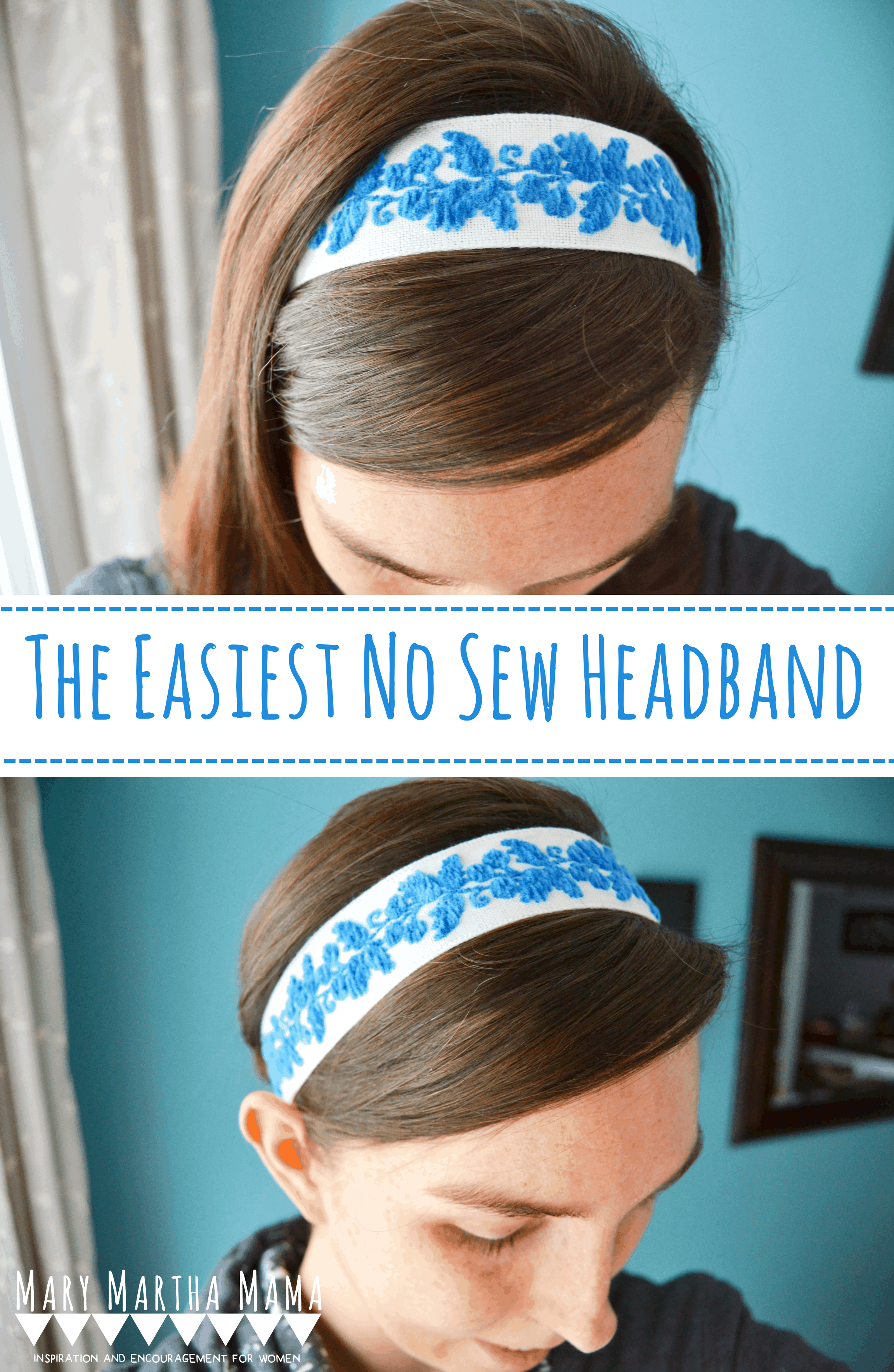 Follow this DIY Headbands No Sew Tutorial to quickly and easily make some cute headbands from ribbon or trim. Make a bunch of headbands in no time at all.