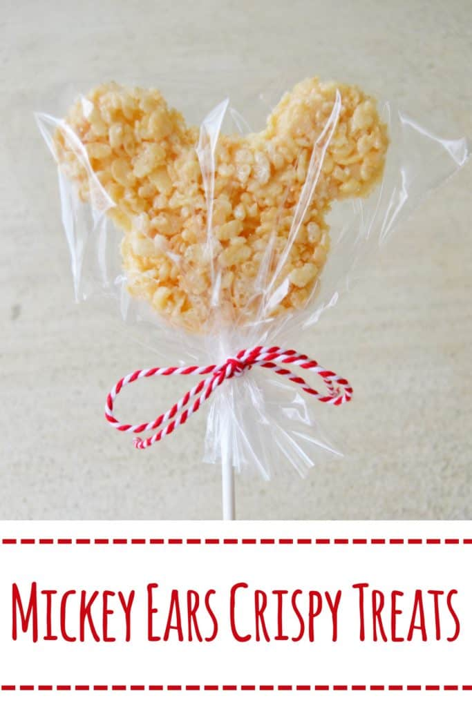 Having a Mickey Mouse party? Make these adorable Mickey Mouse Rice Krispie treats on a stick. They are super easy and adorable.