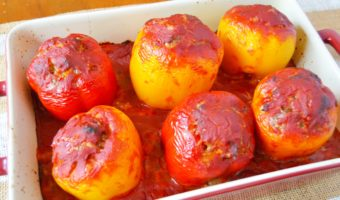 Saucy Stuffed Peppers Recipe