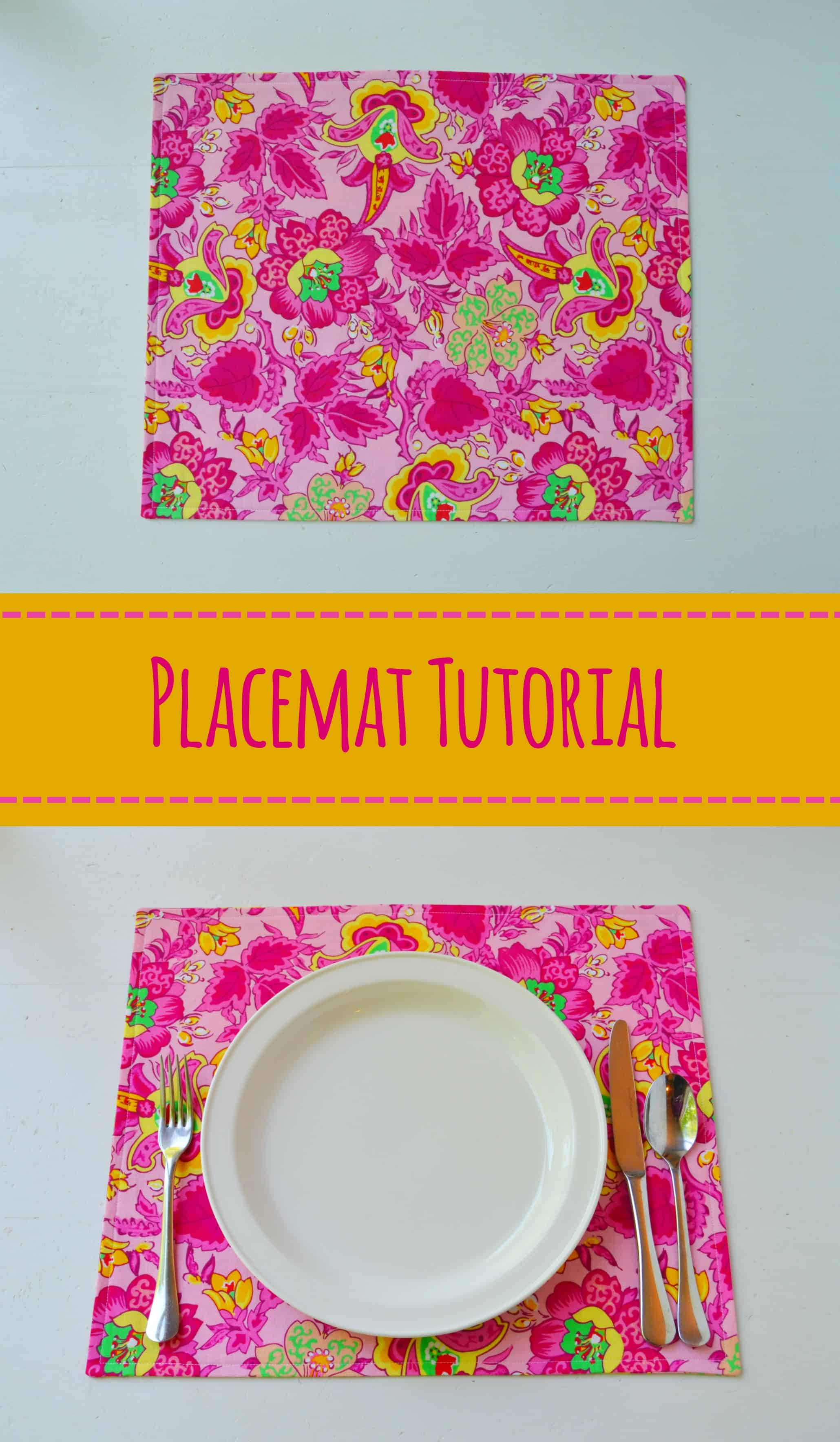 how to make fabric placemats