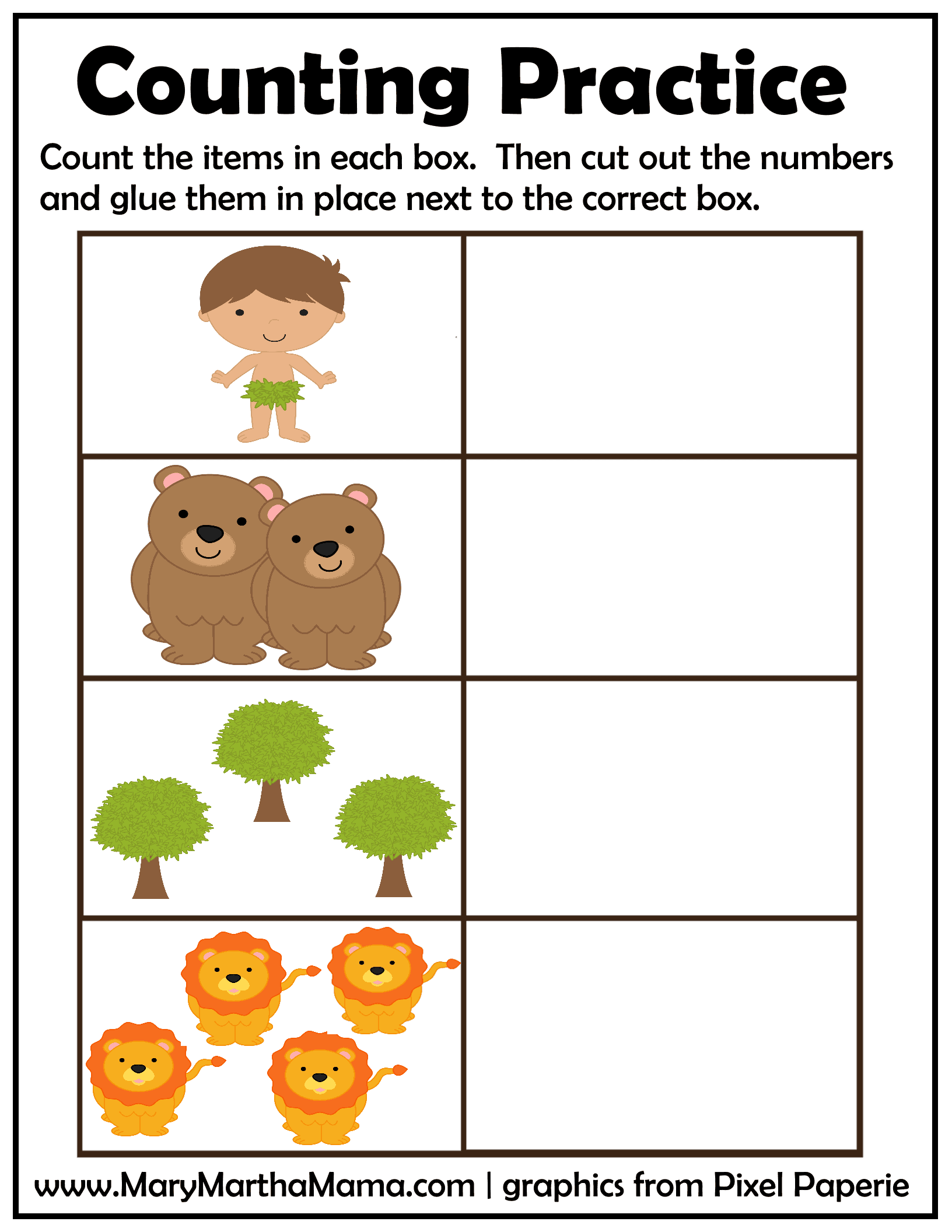 creation counting practice page 1