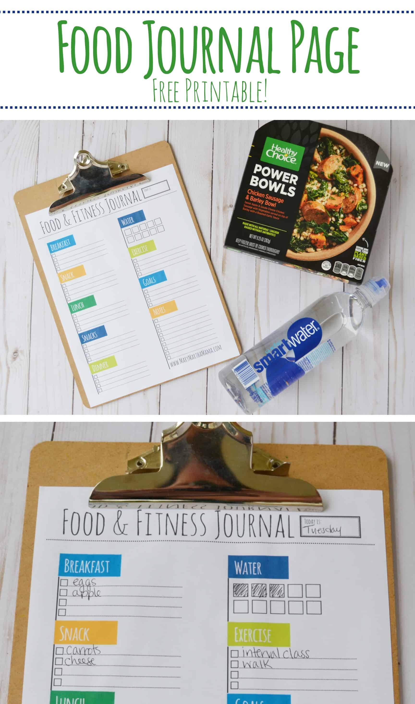 food diary printable