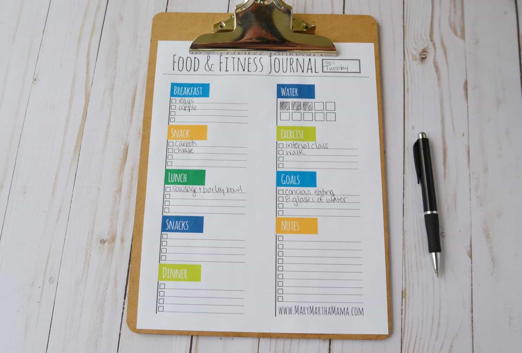 healthy mama 2 0  week 5  food  u0026 fitness journal  u2013 mary