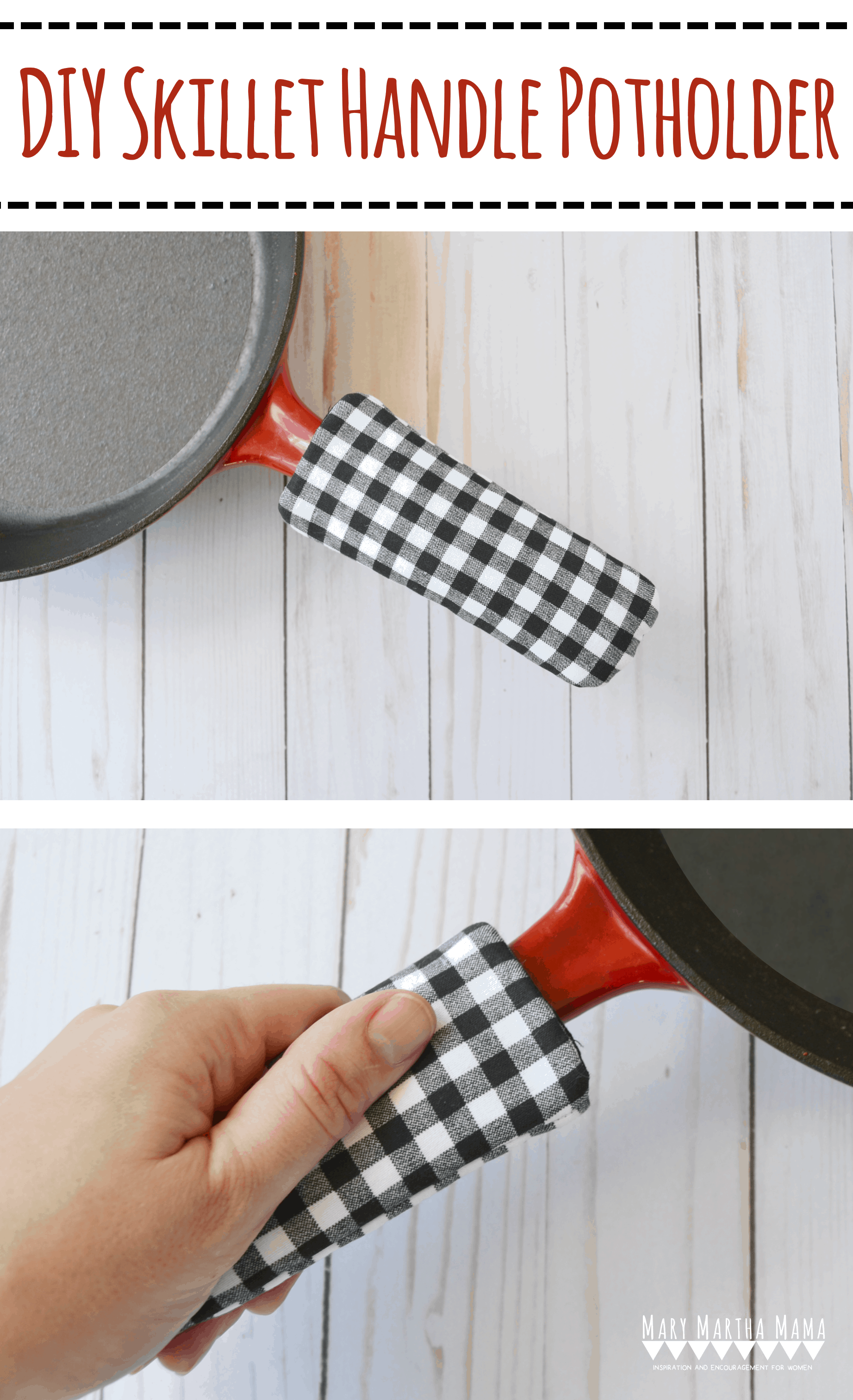 Book Cover With Handles Tutorial : Cast iron skillet handle cover tutorial mary martha mama