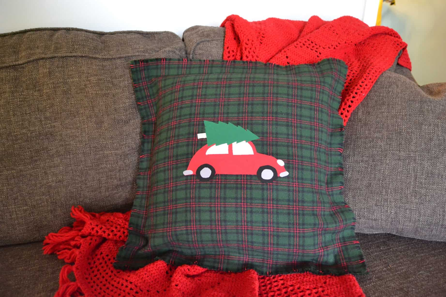DIY No Sew Pillow Covers for Christmas ? Mary Martha Mama