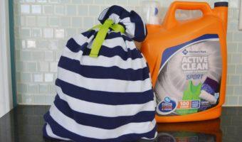 DIY Laundry Bag for Gym Clothes