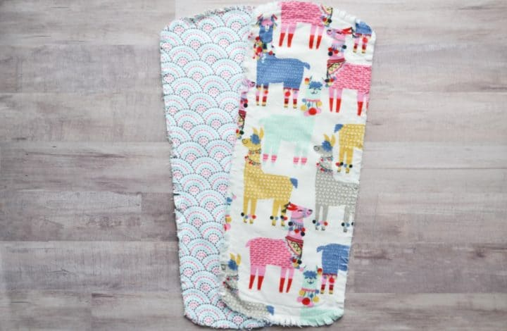 Simple & Chic Burp Cloth Pattern