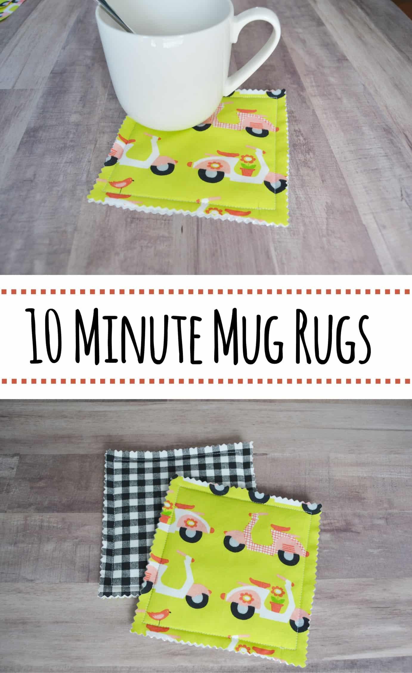 10 Minute Mug Rugs Coasters Mary Martha Mama