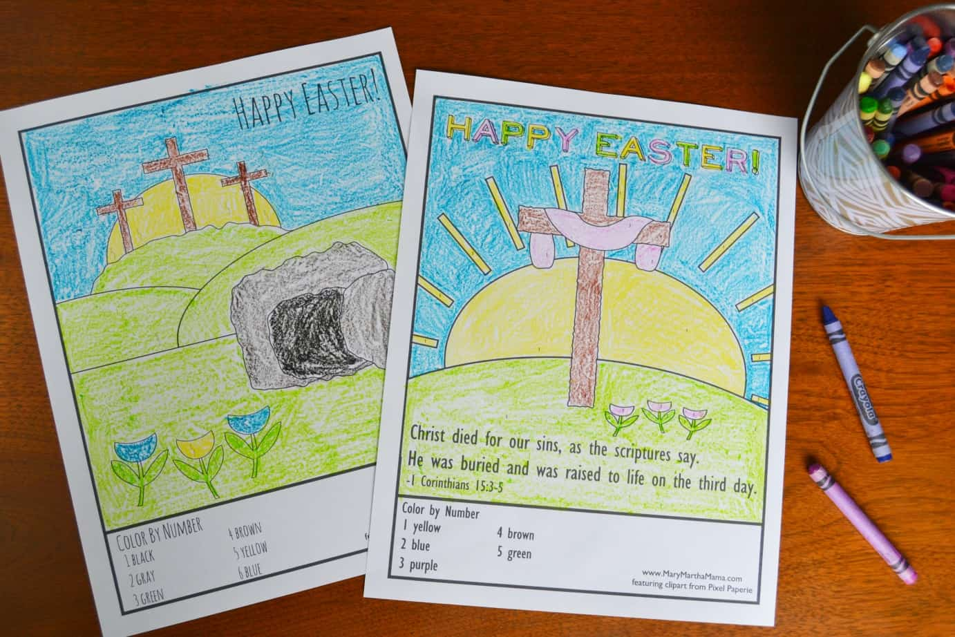 Awesome Easter Pictures to Color – Mary Martha Mama