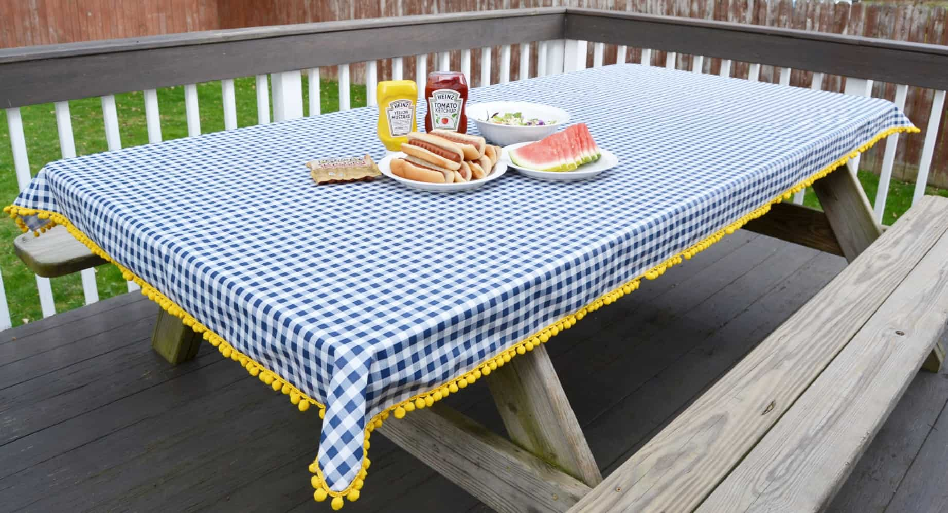 How To Make A Tablecloth For Your Patio Sew Or No Mary Martha Mama