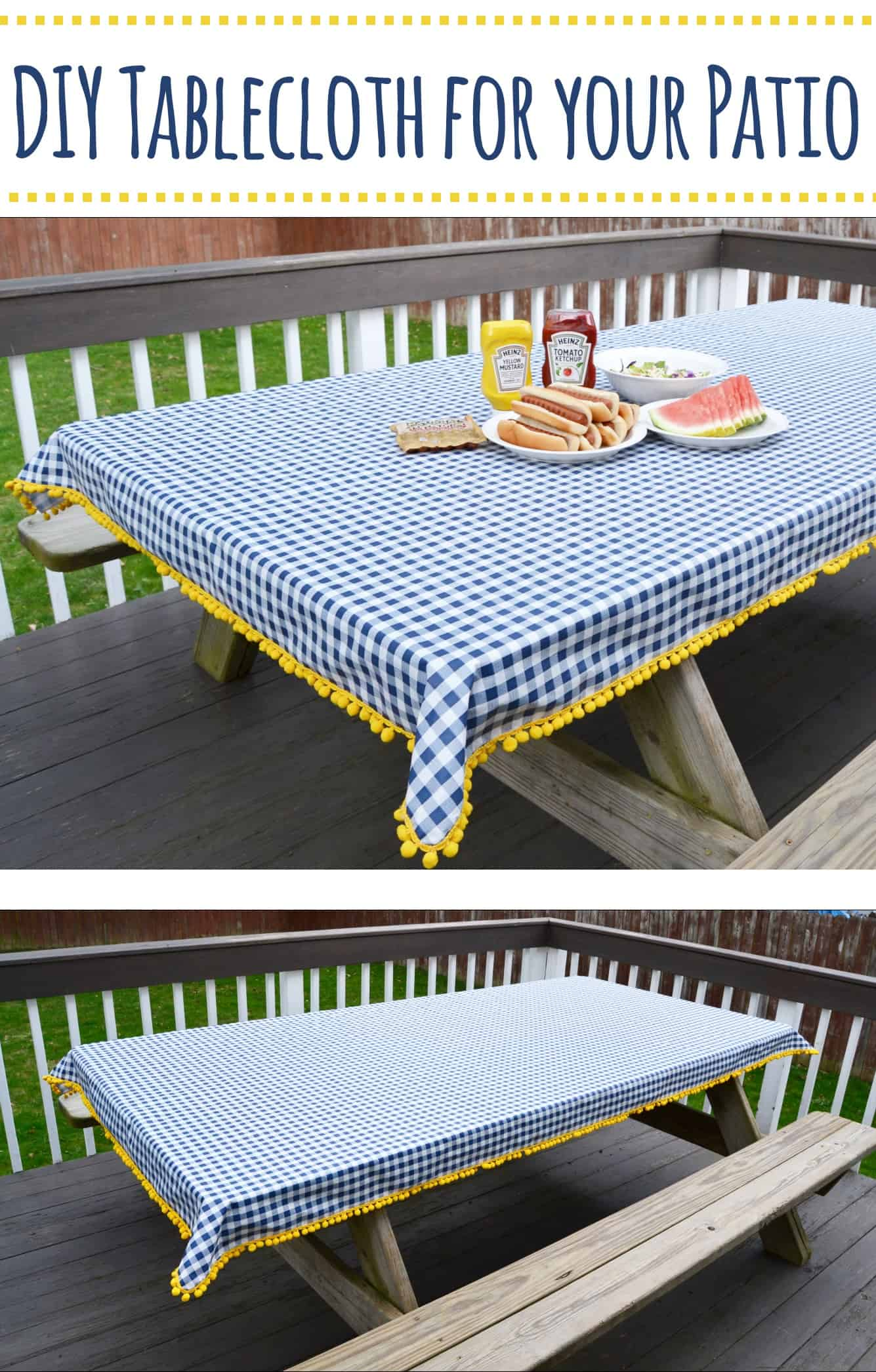 Making A Patio With Stones: How To Make A Tablecloth For Your Patio [Sew Or No Sew
