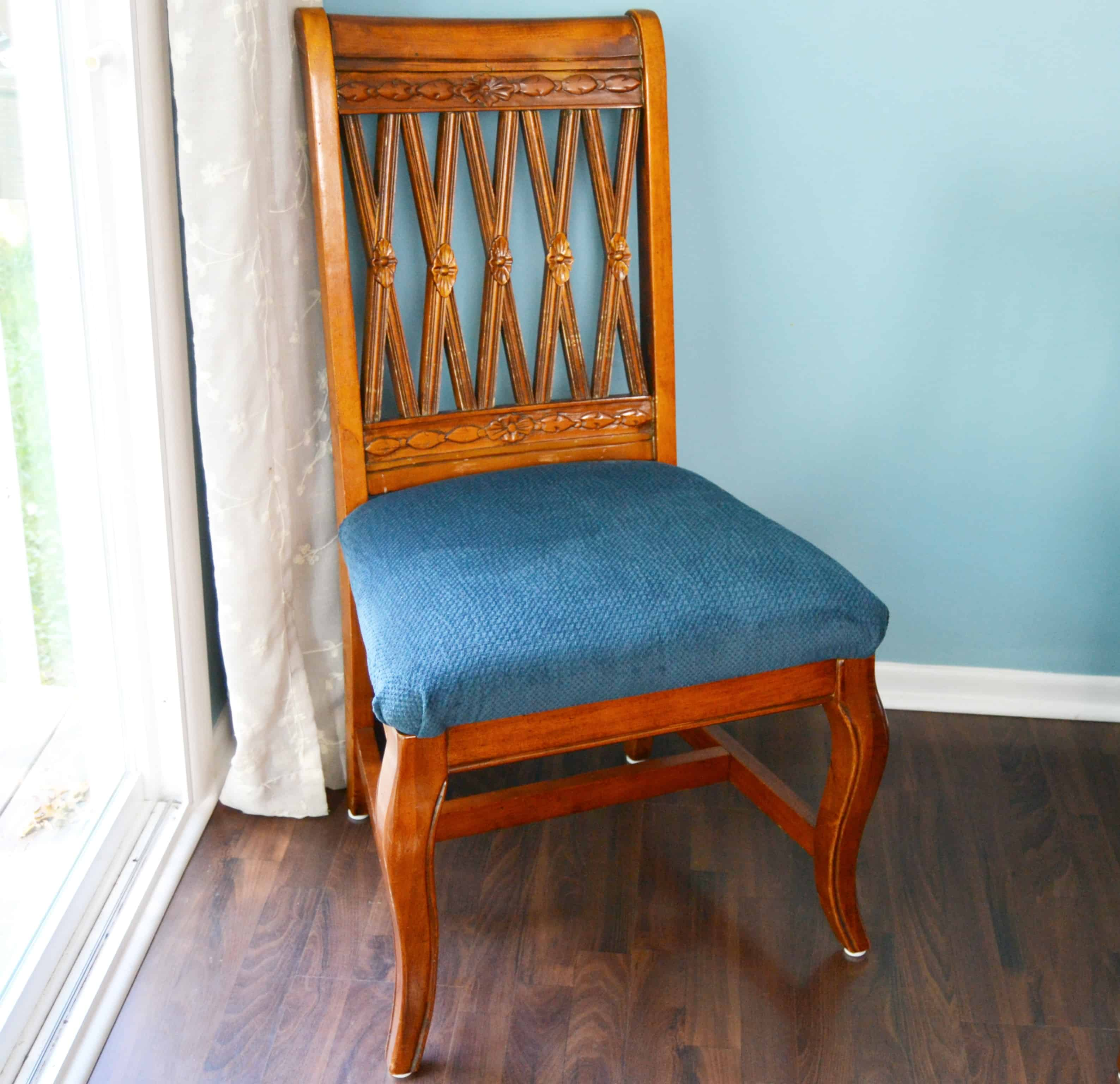 how to reupholster a dinning room chair
