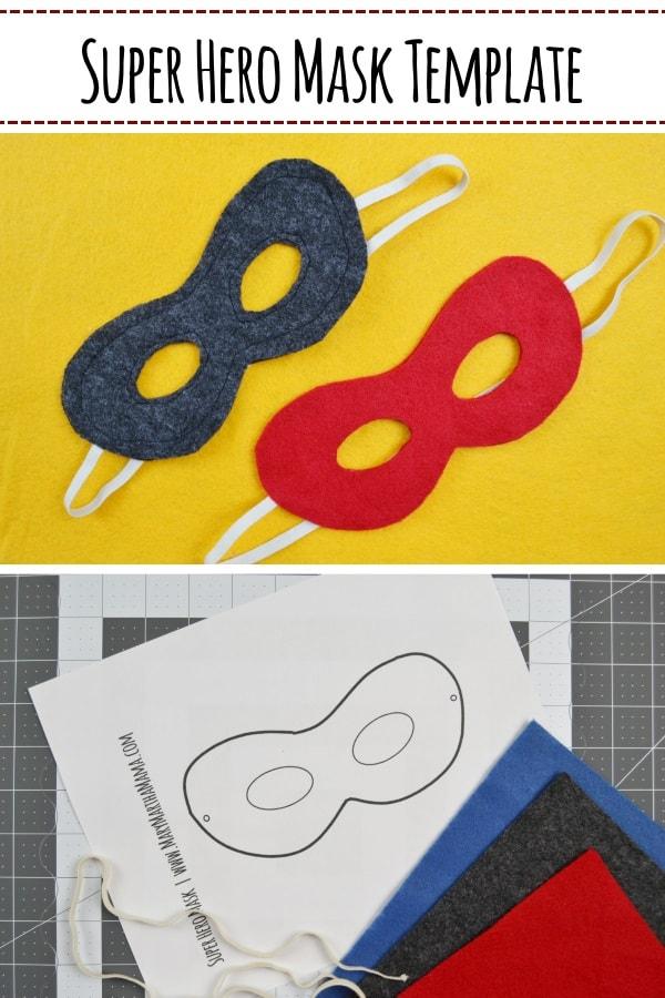 Free printable super hero mask template- DIY super hero mask tutorial