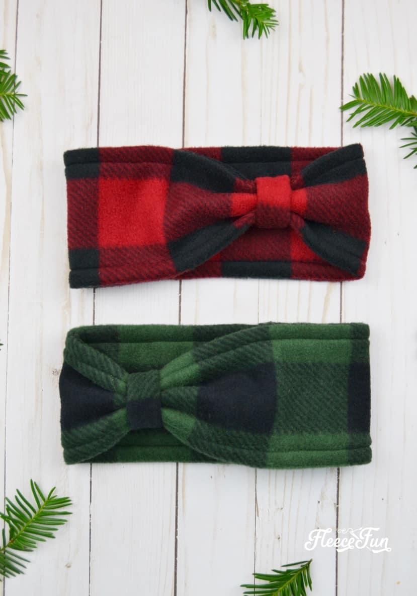 fleece bow headband