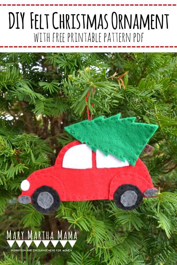 Felt Christmas Tree Ornaments Patterns.The Easy Diy Felt Ornament You Need To Make Mary Martha Mama