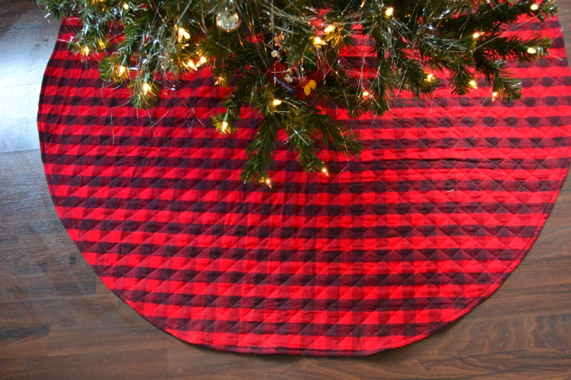 Sewing Pattern Easy Quilted Christmas Tree Skirt Sewing