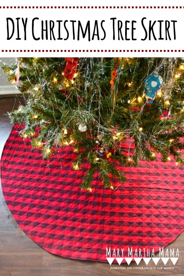 This step by step tutorial with pictures shows you how to make your own DIY Christmas Tree Skirt. It's super easy and you can make it sew or no sew.