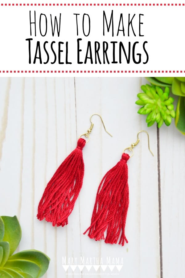 Tassels are a big trend right now and I'm sharing my tutorial for how to make tassel earrings so that you can make a pair of your own.