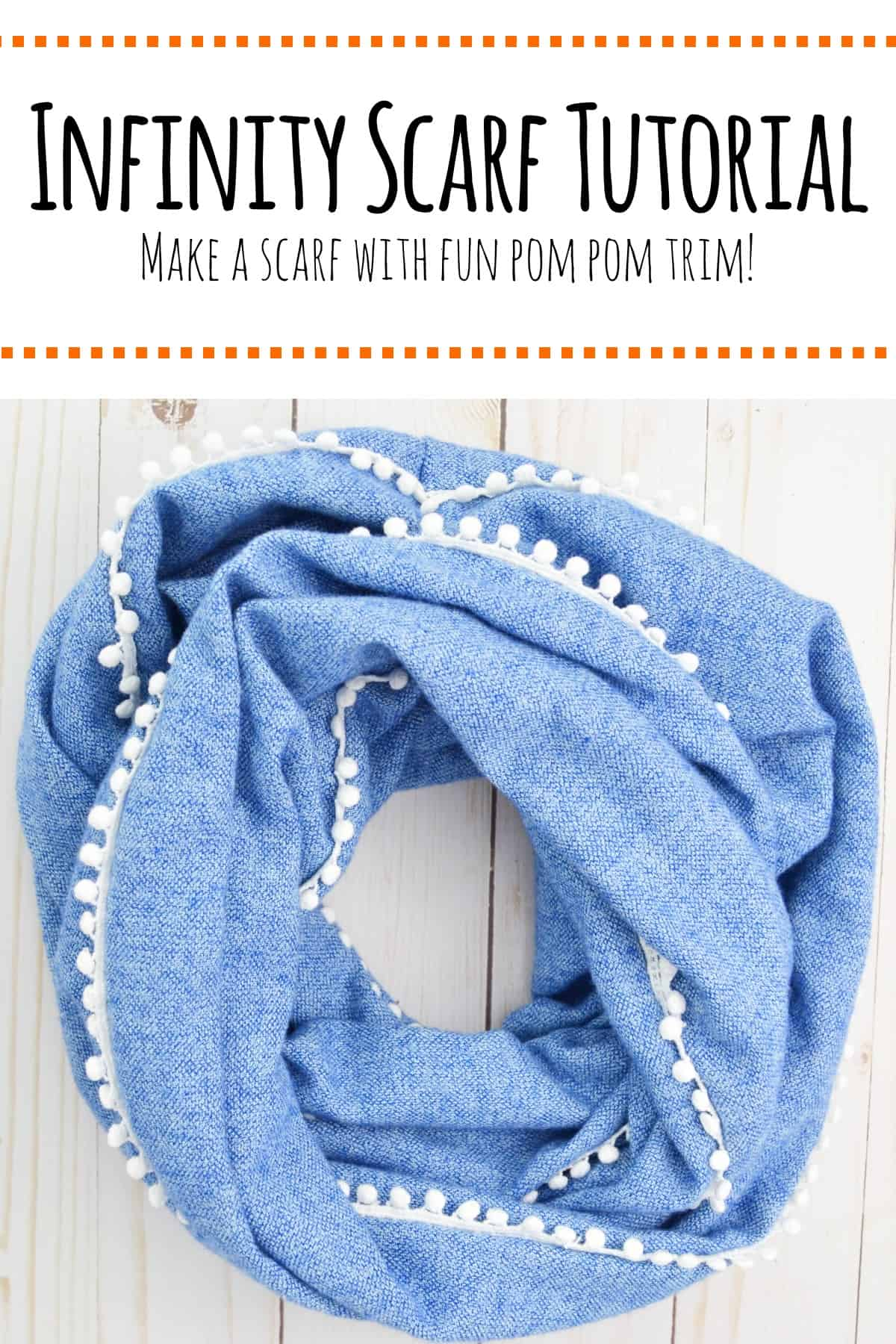 Make your own infinity scarf using this easy to follow infinity scarf tutorial.