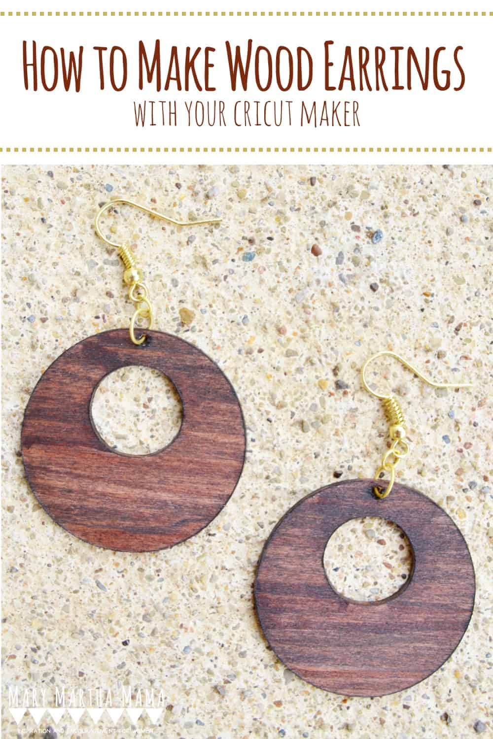 Cricut Earrings Tutorial- Follow this tutorial to make the earrings from basswood using your Cricut Maker. #cricutearrings #cricutmaker #cricutprojects #woodenearrings
