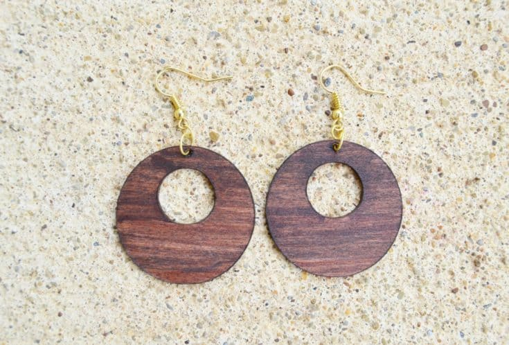 Cricut Earrings from Basswood