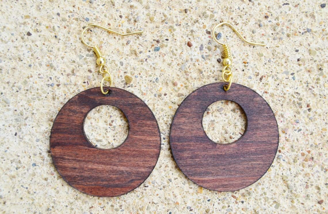 cricut maker wood projects- earrings